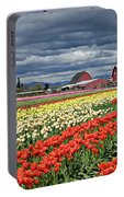 Tulips And Barn Portable Battery Charger