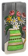 Tulips And Daisies Portable Battery Charger