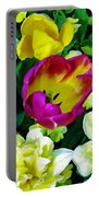 Tulips And Flowers  Portable Battery Charger