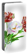 Tulips And Pink White Peony Portable Battery Charger