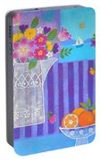 Tulips And White Lace Portable Battery Charger