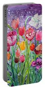 Tulips Are Magic In The Night Portable Battery Charger