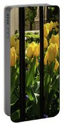 Tulips Behind Bars Portable Battery Charger