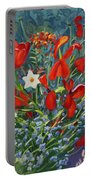 Tulips By The Gate Portable Battery Charger