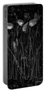 Tulips Decaying At Sunset Portable Battery Charger