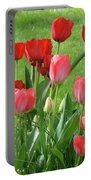 Tulips Flowers Art Prints Spring Tulip Flower Artwork Nature Art Portable Battery Charger
