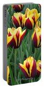 Tulips In The Garden Portable Battery Charger