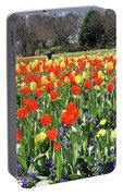 Tulips In The Park. Portable Battery Charger