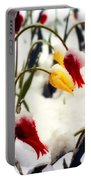 Tulips In The Snow Portable Battery Charger