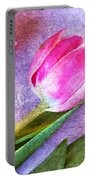 Tulips Meets Texture Portable Battery Charger