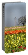 Tulips Morning Landscape Portable Battery Charger