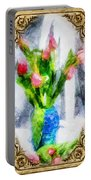 Tulips On A Half Shelf Portable Battery Charger