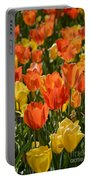 Tulips Yellow And Tangerine Portable Battery Charger