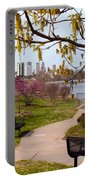 Tulsa From The Pedestrian Bridge Portable Battery Charger
