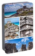 Tulum, Mexico Collage Portable Battery Charger