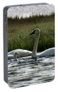Tundra Swans And Cygents Portable Battery Charger