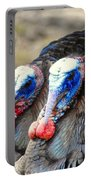 Turkey Prowl Closeup Portable Battery Charger