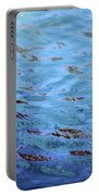Turquoise And Blue Swirls Large Canvas Portable Battery Charger