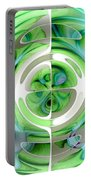 Turquoise And Green Abstract Collage Portable Battery Charger