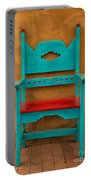 Turquoise And Red Chair Portable Battery Charger