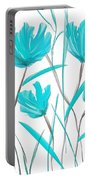 Turquoise Bloom Portable Battery Charger