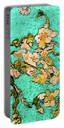 Turquoise Blossom Portable Battery Charger