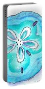 Turquoise Blue Sand Dollar Shells Portable Battery Charger