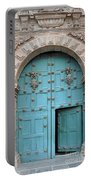 Turquoise Cusco Church Door Portable Battery Charger