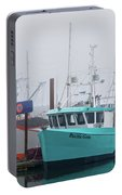 Turquoise Fishing Boat Portable Battery Charger