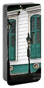 Turquoise Shutters Portable Battery Charger