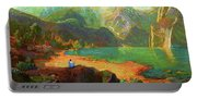 Turquoise Tranquility Meditation Portable Battery Charger