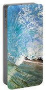 Turquoise Wave Tube Portable Battery Charger