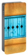 Turquoise Window Shutter Portable Battery Charger