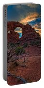 Turret Arch At Sunset Portable Battery Charger