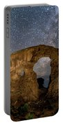 Turret Arch Milkyway, Arches National Park, Utah Portable Battery Charger