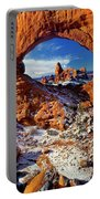 Turret Arch Through North Window Arches National Park Utah Portable Battery Charger