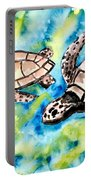 Turtle Love Pair Of Sea Turtles Portable Battery Charger