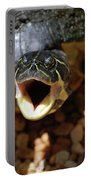 Turtle With His Mouth Wide Open  Portable Battery Charger