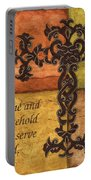 Tuscan Cross Portable Battery Charger by Debbie DeWitt