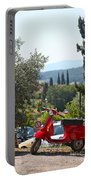 Tuscan Landscape And Scooter Portable Battery Charger