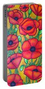 Tuscan Poppies - Crop 1 Portable Battery Charger