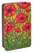 Tuscan Poppies - Crop 2 Portable Battery Charger