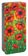 Tuscan Poppies Portable Battery Charger