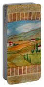 Tuscan Scene Brick Window Portable Battery Charger