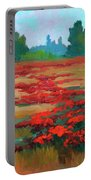 Tuscany Poppy Field Portable Battery Charger