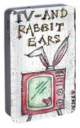 Tv And Rabbit Ears Portable Battery Charger