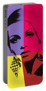 Twiggy Pop Art 1 Portable Battery Charger