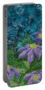 Twilight Clematis Portable Battery Charger