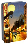 Twilight In Chicago - The Watcher Portable Battery Charger