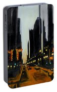 Twilight In Chicago Portable Battery Charger